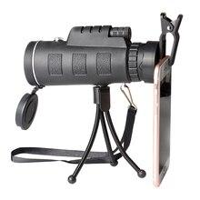 HD Binoculars 40X60 high quality Telescope military night vision binoculo high power telescopio for hunting optics black