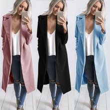 7 Colors Coat Women Winter Long Sleeve Coat Jacket Cardigan Coat Work Office Women Clothes Warm Coat Girl #O08#N #N #N cheap Wool COTTON C81008140630001 Women Coat Turn-down Collar Open Stitch REGULAR Full Loose Wool Blends Pockets Cotton and Wool