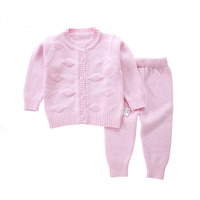 Open Crotch Spring Autumn Baby Boys Girls Clothing Set Thin Sport Sweater Suit Newborn Infant Girl Sweaters 0 18Months