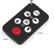 Universal Mini Keychain Ultra-thin Remote Control for TCL Philips Sony Panasonic