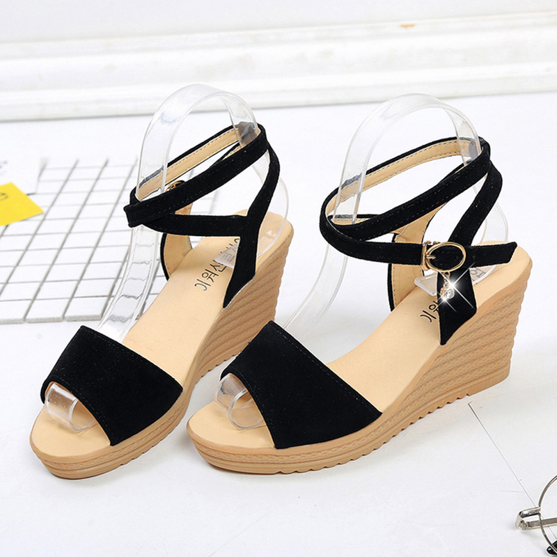 KUIDFAR Shoes woman wedges shoes summer women sandals platform open toe High gladiator sandals 2017 gladiator summer shoes woman platform sandals women flats soft leather casual open toe wedges sandals women shoes r18