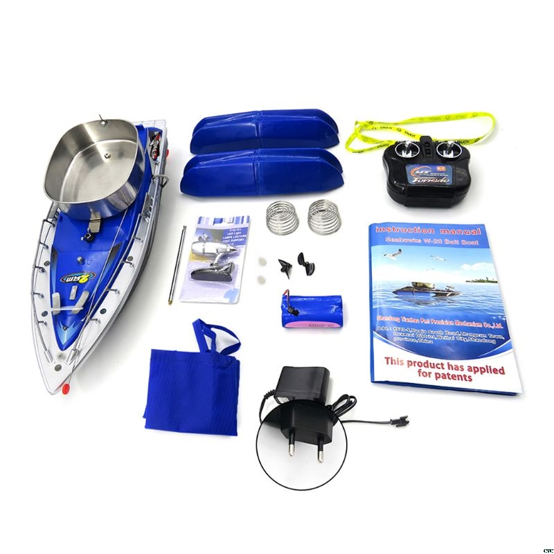Flytec 2011 - 3 RC Boat Intelligent Wireless Electric Fishing Bait Remote Control Fish Ship Searchlight Toys