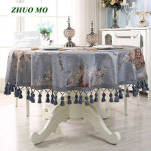 ZHUO MO Table Cloth Luxury  Hanging ear Tablecloth Dining Cover Wedding decoration For Kitchen Cafe Home Decor