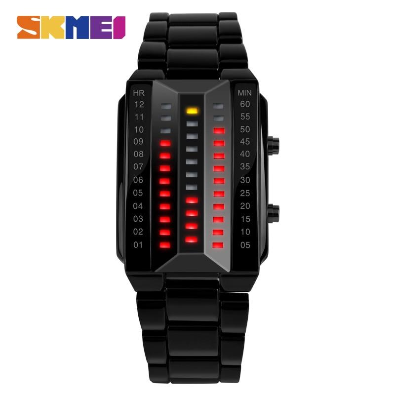 Stainless Steel Band Digital Waterproof Quartz Watch Fashion Casual Lover Digital Sport Wristwatches 1013
