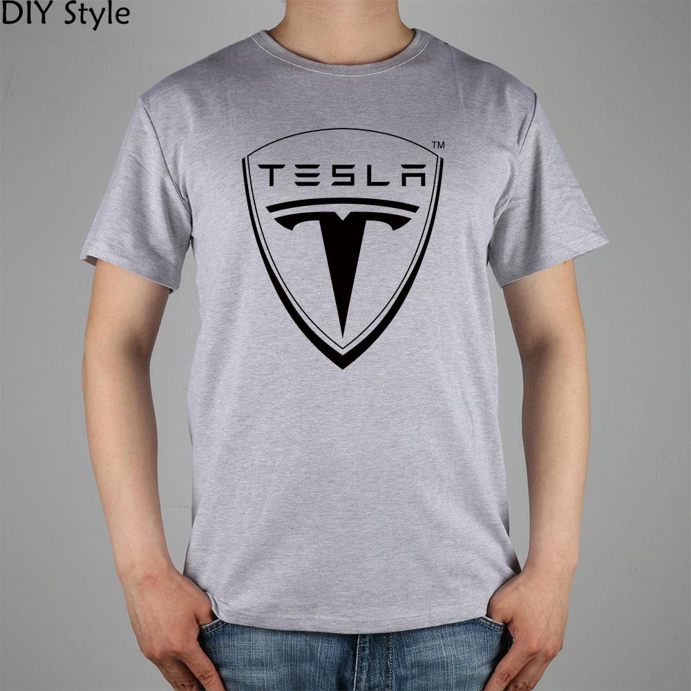 Tesla Electric Motor Car Black T-Shirt Motorsport Men or Women Clothing