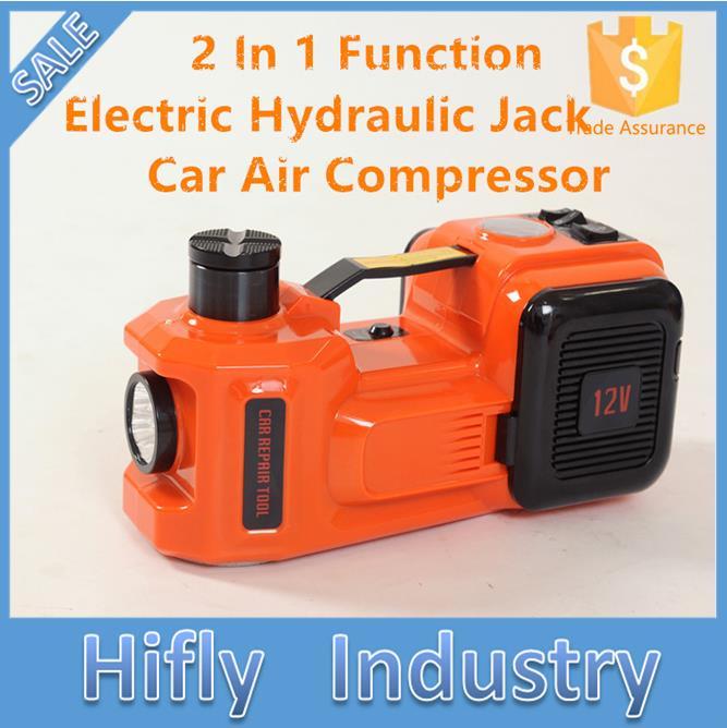 5ton 2 En 1 Fonction auto électrique vérin hydraulique de levage deux fonctions jack pour SUV ascenseur avec voiture compresseur d'air gonfleur