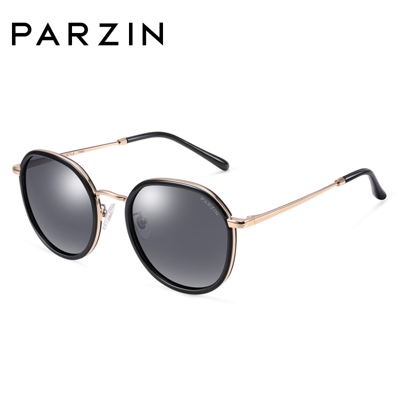 PARZIN 2018 Polarized Sunglasses For Women Round Coating Colorful Driving Sunglasses Travel Accessories 9917