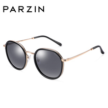 PARZIN Polarized Sunglasses For Women Round Coating Colorful Driving Travel Accessories 9917