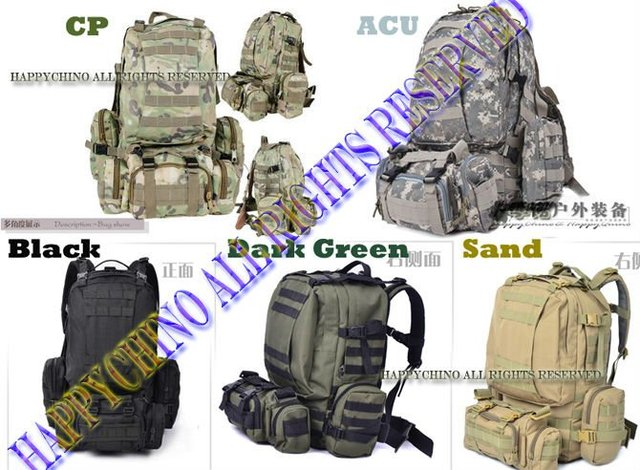 Cool! Travel MOLLE 60L Tactical Backpack Camping Backpack Miltary All in One Backpack