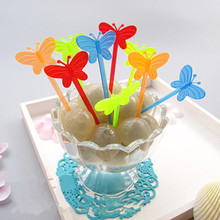 200pcs! Creative fashion fruit fork fruit toothpicks buffet cupcake cocktail wedding party decor, Free shipping.