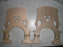 2 Stücke Doppel Bass Bridge einschließlich 1 stücke 3/4 & 1 stücke 4/4 alle einstellbaren bass bridge
