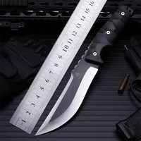 2020 New Free Shipping Outdoor High Hardness Straight Knife Self-defense Wilderness Survival Camping Fixed Tactical Army knives
