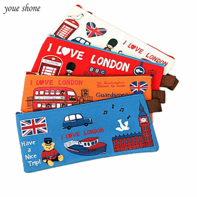 1Pcs/lot Soldier section London pencil case Oxford zipper ...