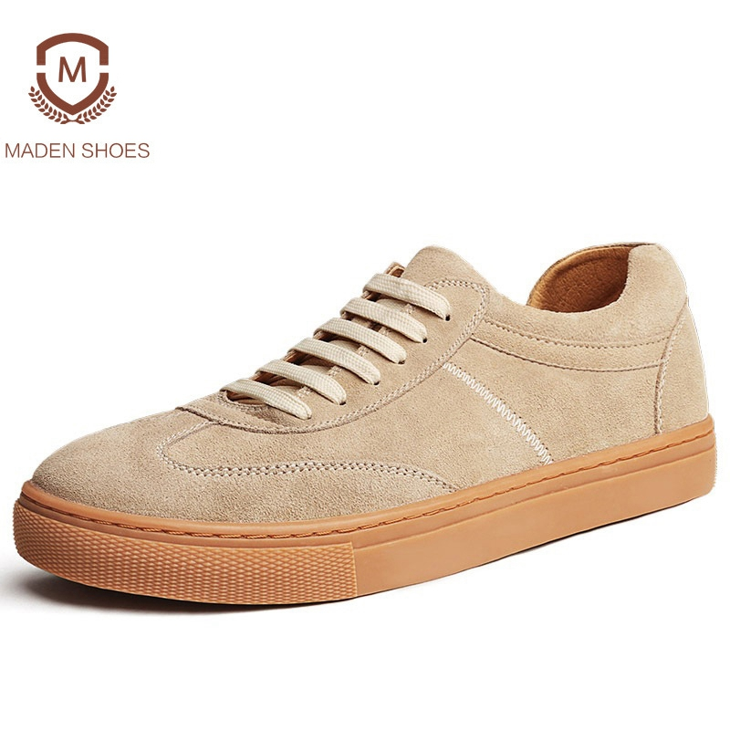 Maden 2018 New Arrival Spring Summer Cow Suede Men Casual Shoes Handmade Creepers Fashion Leisure Sneakers Zapatos Hombre new arrive diy doll house model building kits 3d handmade wooden miniature dollhouse toy christmas birthday greative gift