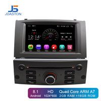 JDASTON Android 8.1 Car DVD Player For Peugeot 407 2004 2010 GPS Navigation Multimedia Stereo 1 Din Car Radio WIFI IPS Screen SD