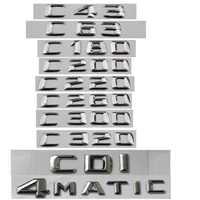 For Mercedes Benz C Class C63 C43 C55 AMG C180 C200 C220 C300 C320 C350 4MATIC CDI Trunk Emblem Badge Chrome Letters Emblems