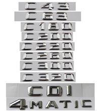 Хромированные эмблемы для багажника mercedes benz c class c63