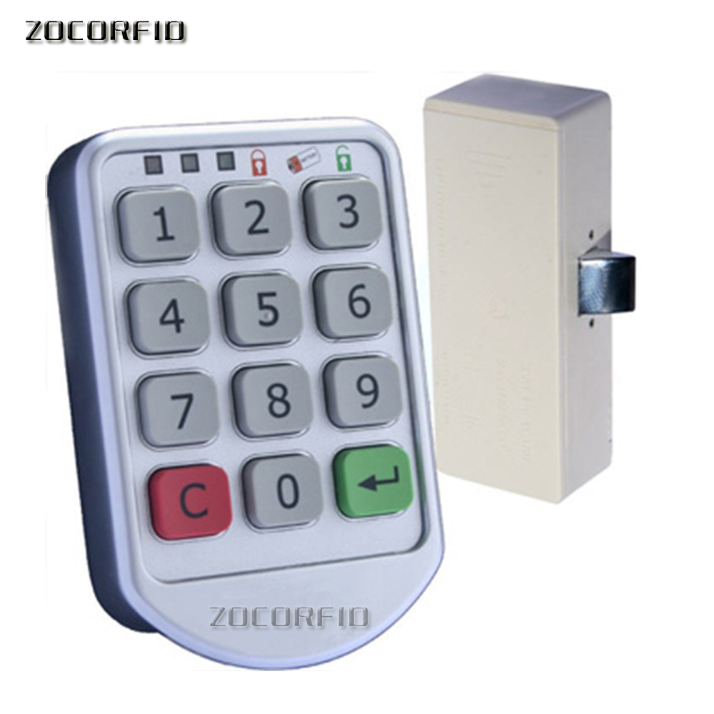 Free shipping DIY Electronic password keypad locker digital cabinet lock for office hotel home swimming pool