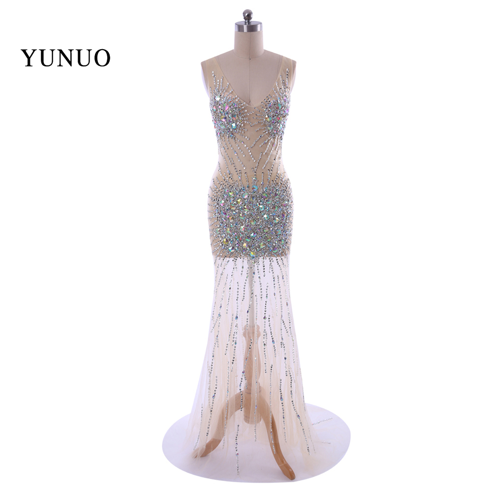 2018 New Real Sample Hot Sale Sexy V Neck Elastic Waist Slim Fast Shipping Floor-length Evening Dress 082A5549