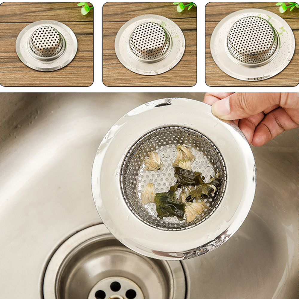 1x Kitchen Sink Strainers  Stainless Steel Basket Drain Protector Stopper Plug
