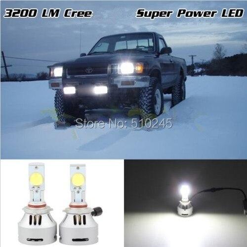 ФОТО 10 SET X Gen7 Hot Sale 9005 cree LED Headlight 12V 24V auto Car Fog Light Lamp 6500K 3200Lm White bulb free shipping