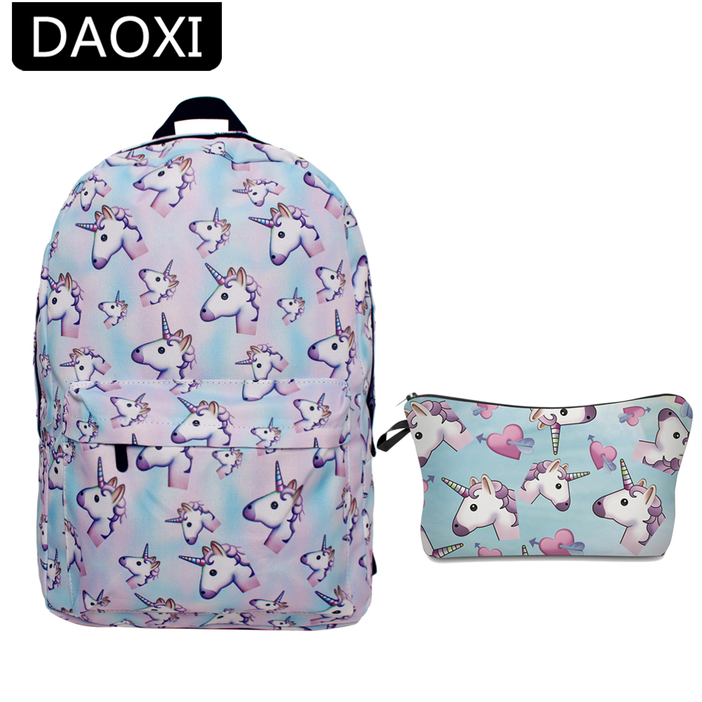 DAOXI 2Pcs Printing Unicorn Backpack Canvas With Zipper Youth Schoolbags Shoulder Bag Unicorn Bag for Girls Boys TeenagersDAOXI 2Pcs Printing Unicorn Backpack Canvas With Zipper Youth Schoolbags Shoulder Bag Unicorn Bag for Girls Boys Teenagers