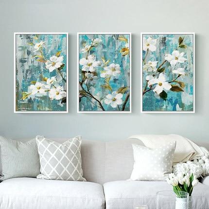 Nordic 5D New Diamond Painting Triptych Painting Apple Flowers Full Drill Modern Living Room Minimalist Diy