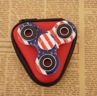 2pcs/set Hand Spinner EDC Fidget Toy 1pcs Tri-Spinner+1 Zipper box Anti-Anxiety Toy Camouflage Spinner Focus ADHD Finger Spinner