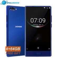 Original DOOGEE MIX Smartphone Android 7.0 Dual Cameras 5.5Inch MTK Helio Octa Core 4GB+64GB LTE Smartphone 3380mAh P25
