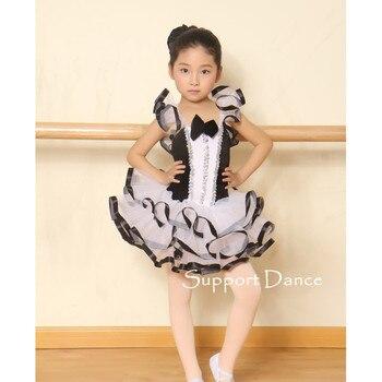 Support-Dance Flutter Sleeve Ballet Tutu Dress Kids Adult Dance Costume C239