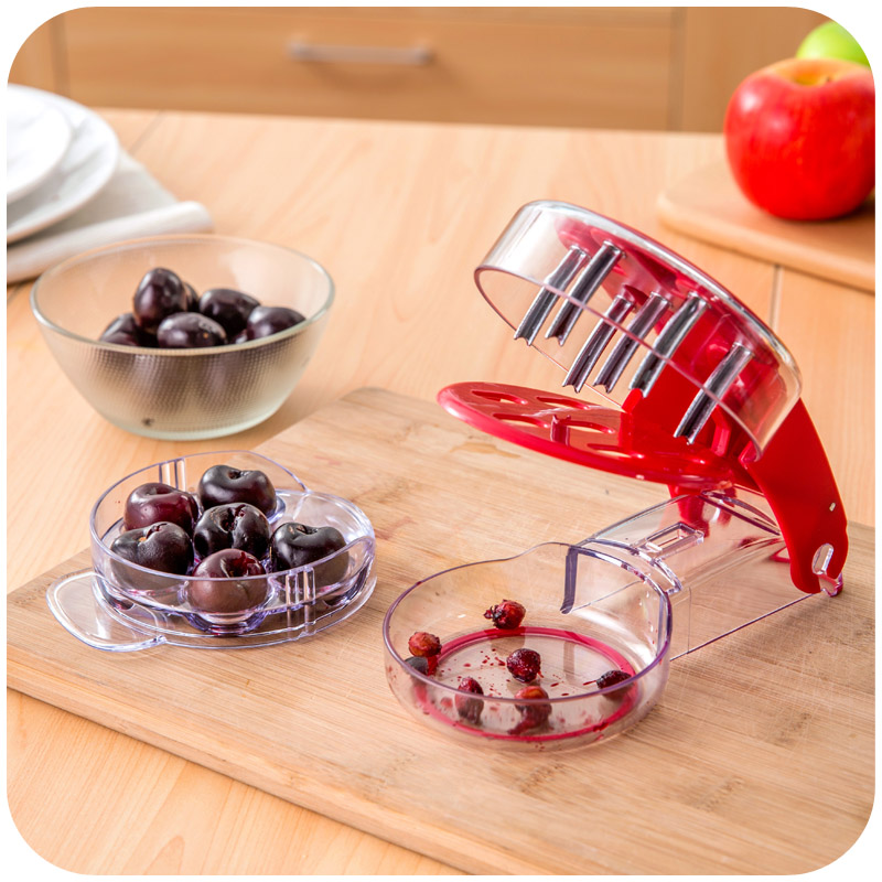 Practical Handheld Cherry Pitter Multi-particle cherry corer Pits Olive Core Stoner Remover puncher fruit & vegetable tools