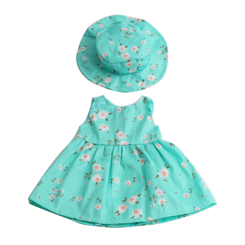 Fashion Doll Dress + Hat Fit For 18 Inch American Girl Doll Skirt Clothes Toys Accessories Dresses 5 Colors Collection american girl doll clothes halloween witch dress cosplay costume for 16 18 inches doll alexander dress doll accessories x 68