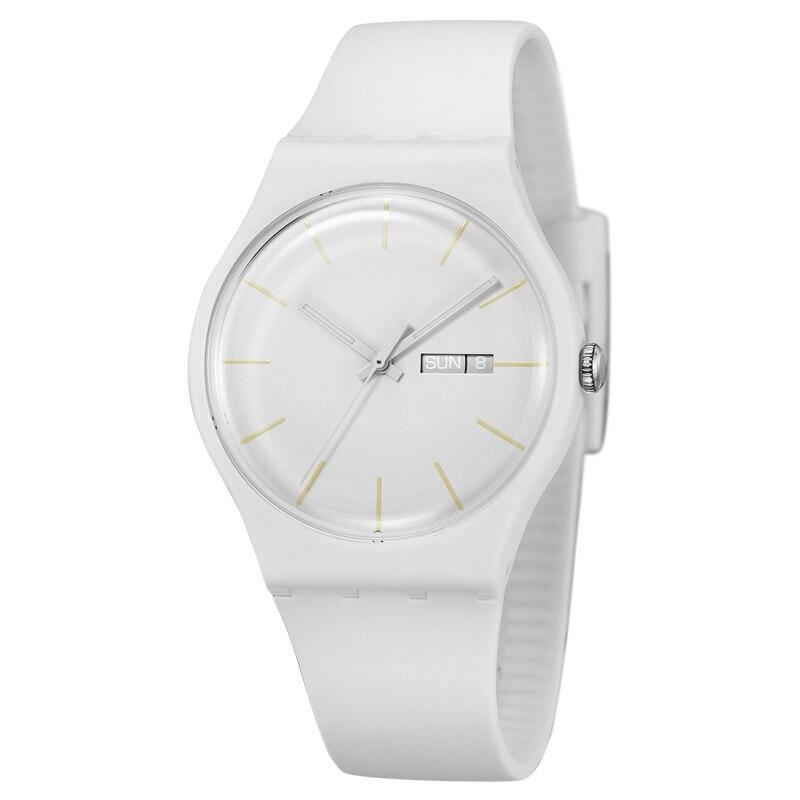 Montre Swatch montre quartz original coloré neutre blanc Innocent décontracté SUOW701