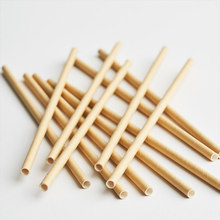 20pcs Kraft Brown Paper Straws Birthday Party Disposable Eco-Friendly Tableware Party Supplies