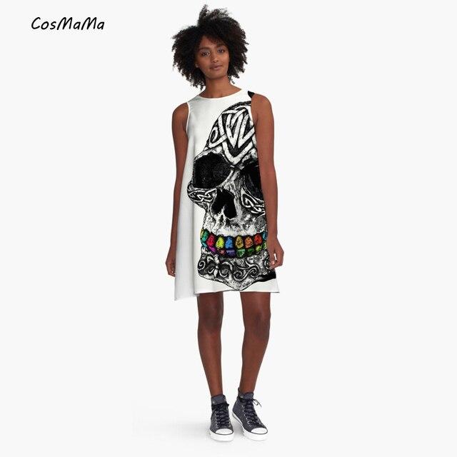5a633d35e35f84 2017 Nieuwe collectie CosMaMa merk kleding womens fashion desigual zomer  grote schedel casual mouwloze diva prinses