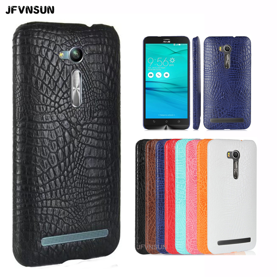 Zenfone GO Case Luxury Crocodile Skin Print Case for ASUS ZenFone GO ZB452KG ZB450KL ZB500KL ZB500KG ZB551KL Cover Leather Cases(China)