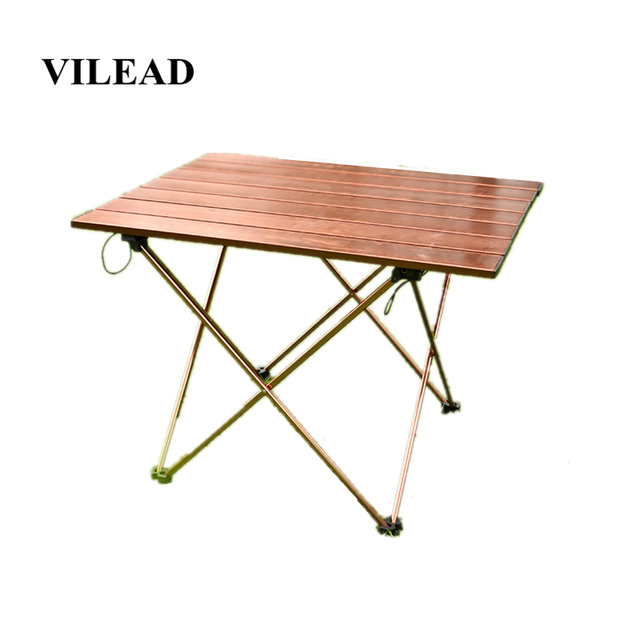 VILEAD Portable Folding Camping Table Aluminium Alloy Ultra light Picnic BBQ Traveling Outdoor Waterproof Foldable Durable Desk