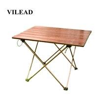 Vilead portátil dobrável mesa de acampamento liga de alumínio ultra leve piquenique churrasco viajando ao ar livre à prova dwaterproof água dobrável durável