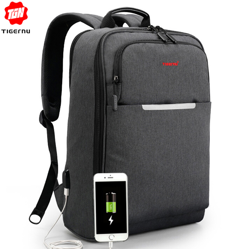 Tigernu Waterproof Anti Theft Travel Backpack for Male 15 6 inch Laptop USB Backpack Women School