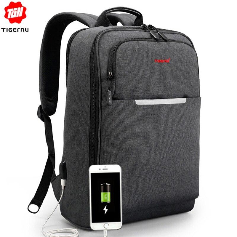 Tigernu étanche Anti-vol voyage sac à dos pour homme 15.6 pouces ordinateur portable USB sac à dos femmes sacs d'école pour les adolescentes Mochila