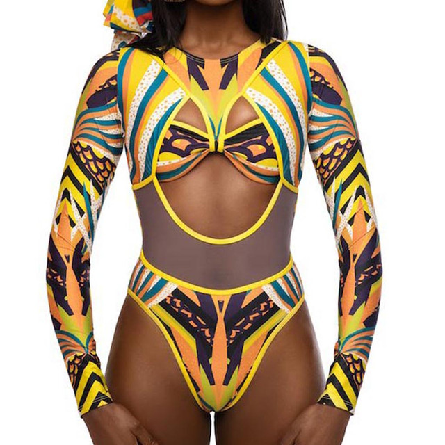 Das Mulheres novas da moda Totem Impressão Digital Sexy Malha de Uma Peça-bra set Férias Dos Namorados presente do Dia