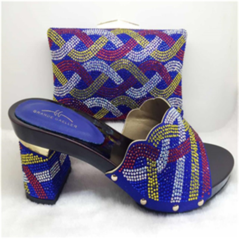 African font b Women s b font Shoes with Heels African Shoes and Matching Bags Italian