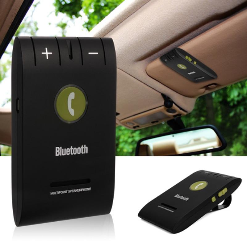 Alat Pembesar Suara Bluetooth Kereta Speaker Bebas 6E Speaker Bluetooth Headset untuk Smartphone Multipoint Wireless Sun Visor Bebas Tangan