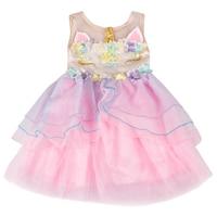 In Stock Unicorn Baby Girls Clothes Kids Wear Summer Pink Blue Purple Soft Yarn Dress Boutique