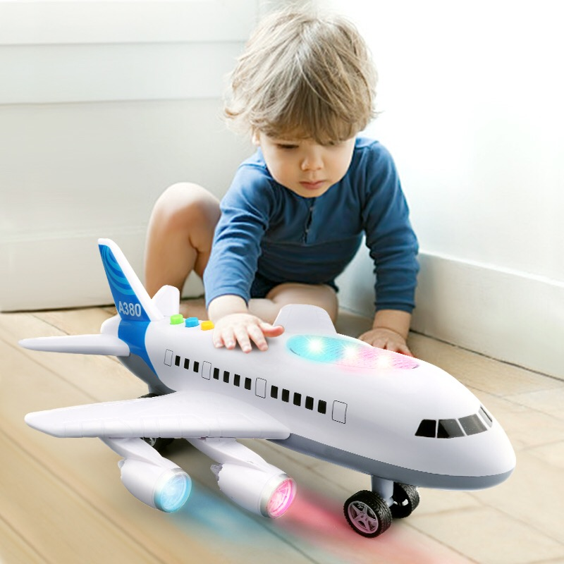 127127 new Children's toy aircraft supersize inertia simulation aircraft helicopter boy baby music toy car model. intelligent sensor aircraft toy