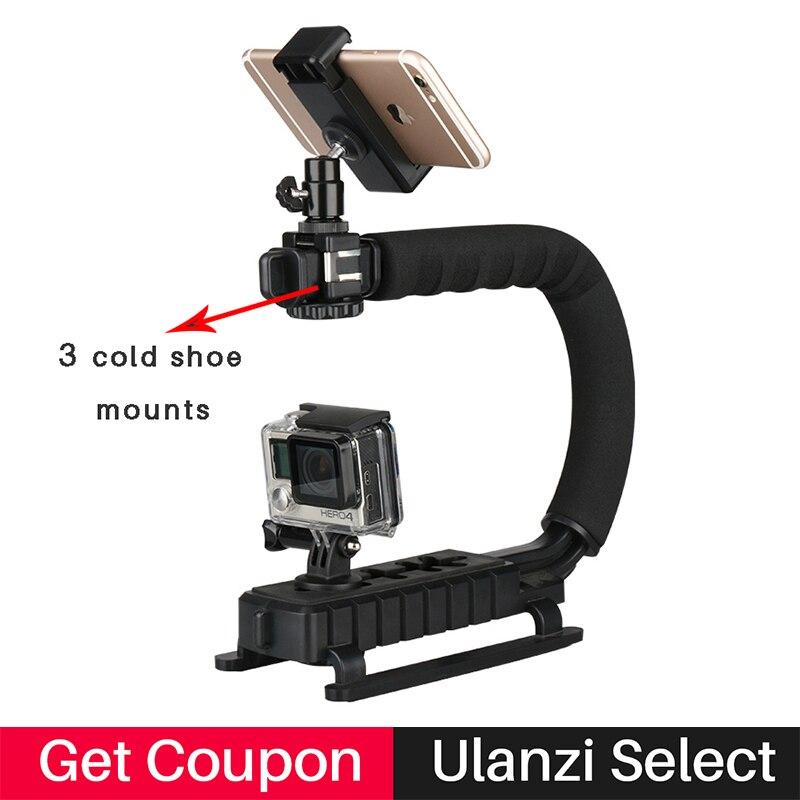 Ulanzi 4 en 1 Vidéo de Poche Stabilisateur Cardan Poignée Steadicam Rig pour Gopro Hero 5 4 Action Caméra Sjcam XIAOMi Yi pour iphone