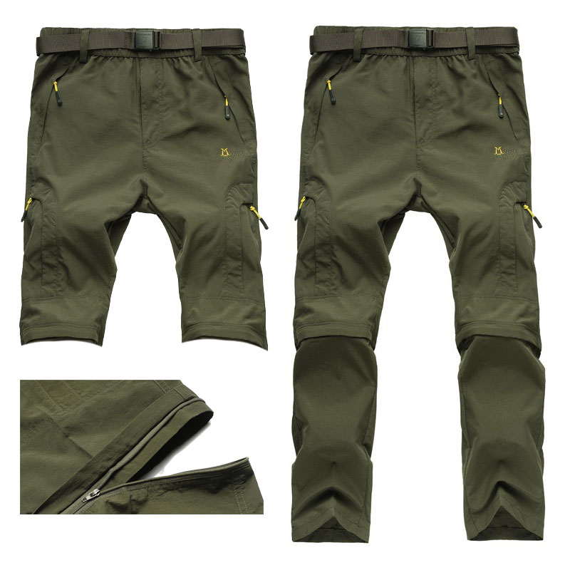Outdoor sports pants, mountaineering rock climbing two detachable fast dry pants