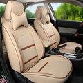 Personalizado tampa de assento tampas de assento para Toyota FJ Cruiser vermelho PU almofada do assento de couro do assento de carro cobre um conjunto para carros acessórios de apoio