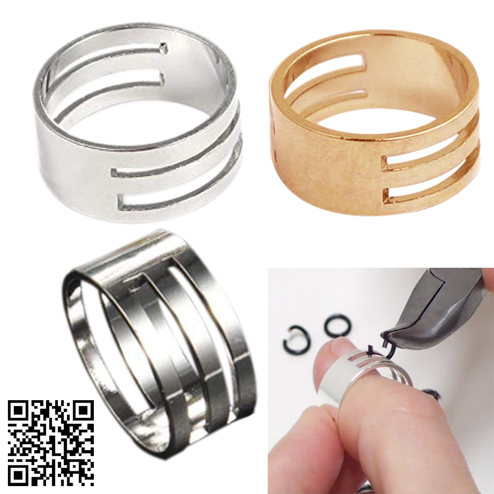 1pcs 18x8mm Metal Jump Ring Opener Opening Closing Finger Ring Alloy Round Circle Bead Plier DIY Accessories Jewelry Making Tool