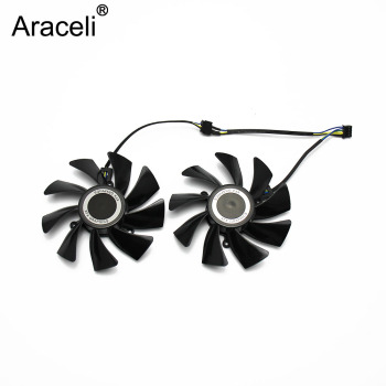 2pcs/lot 85MM FD9015U12S XFX HD7970 4Pin Cooling Fan For Sapphire XFX HD7950 HD7970 Vapor-X GHz Edition Video Card Cooling image
